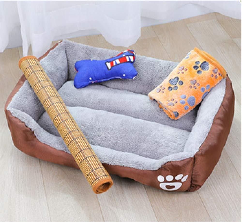 Brown Oversized Pet Nest Soft Square Dog Bed Pet Sofa Multi-color Optional 110  85  19cm,Brown