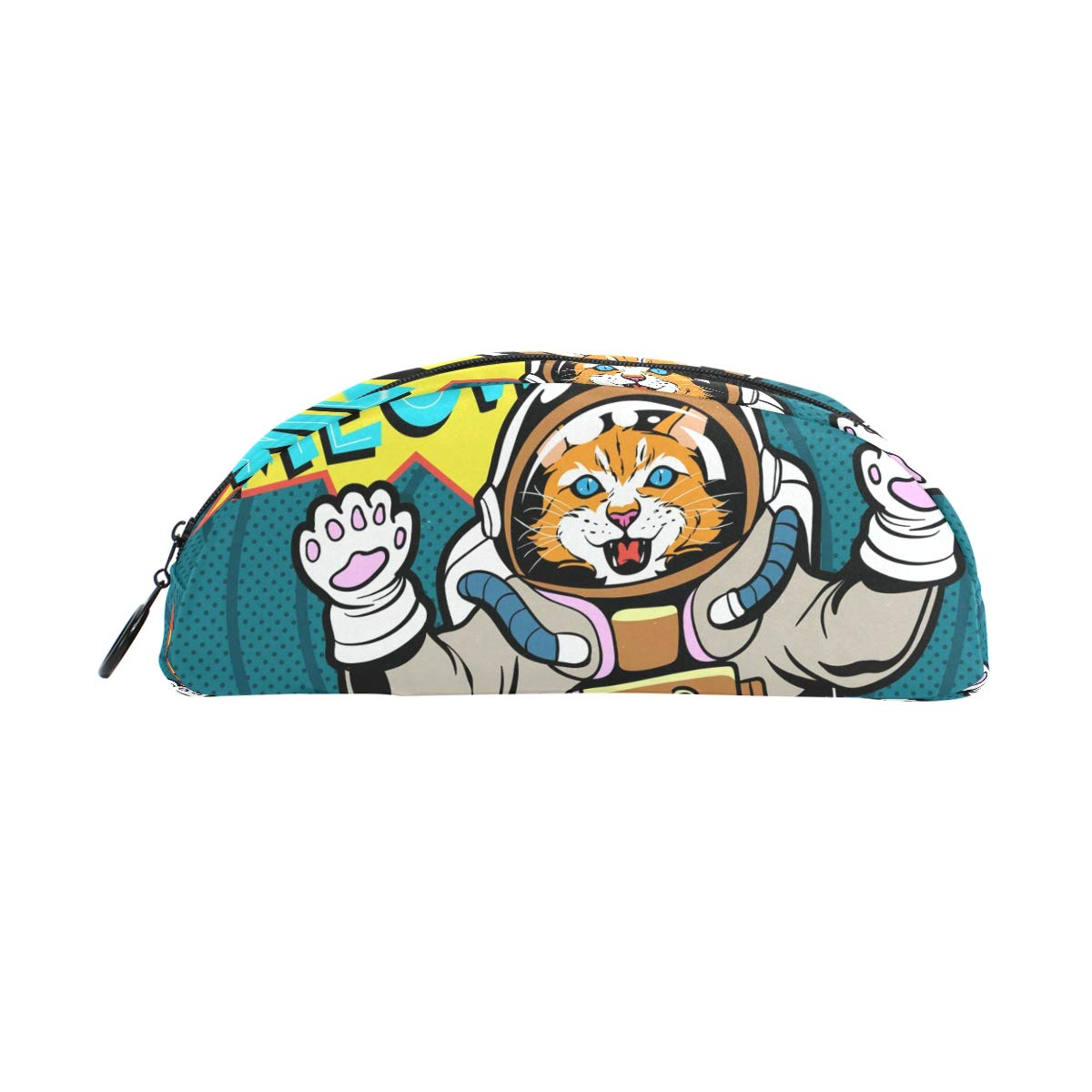 Cat Astronaut - Estuche para bolígrafos de escuela, de tamaño grande, caja de escuela, maquillaje, cosméticos, oficina, bolsa de viaje 68980e