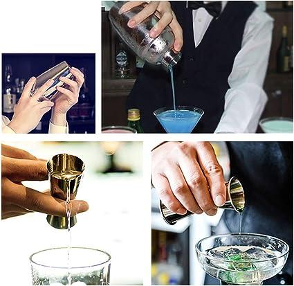 Novhome Juego de Coctelera 750ml Profesional 12 Piezas para Barman Kit de Herramientas de Barra de Acero Inoxidable con Soporte de Bambú para Bar ...