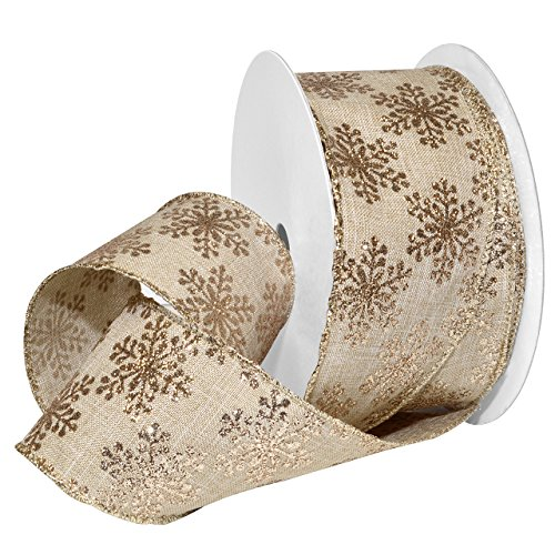 morex-ribbon-771960-20-004-french-wired-polyester-linen-frost-ribbon-2-1-2-x-20-yd-natural-gold