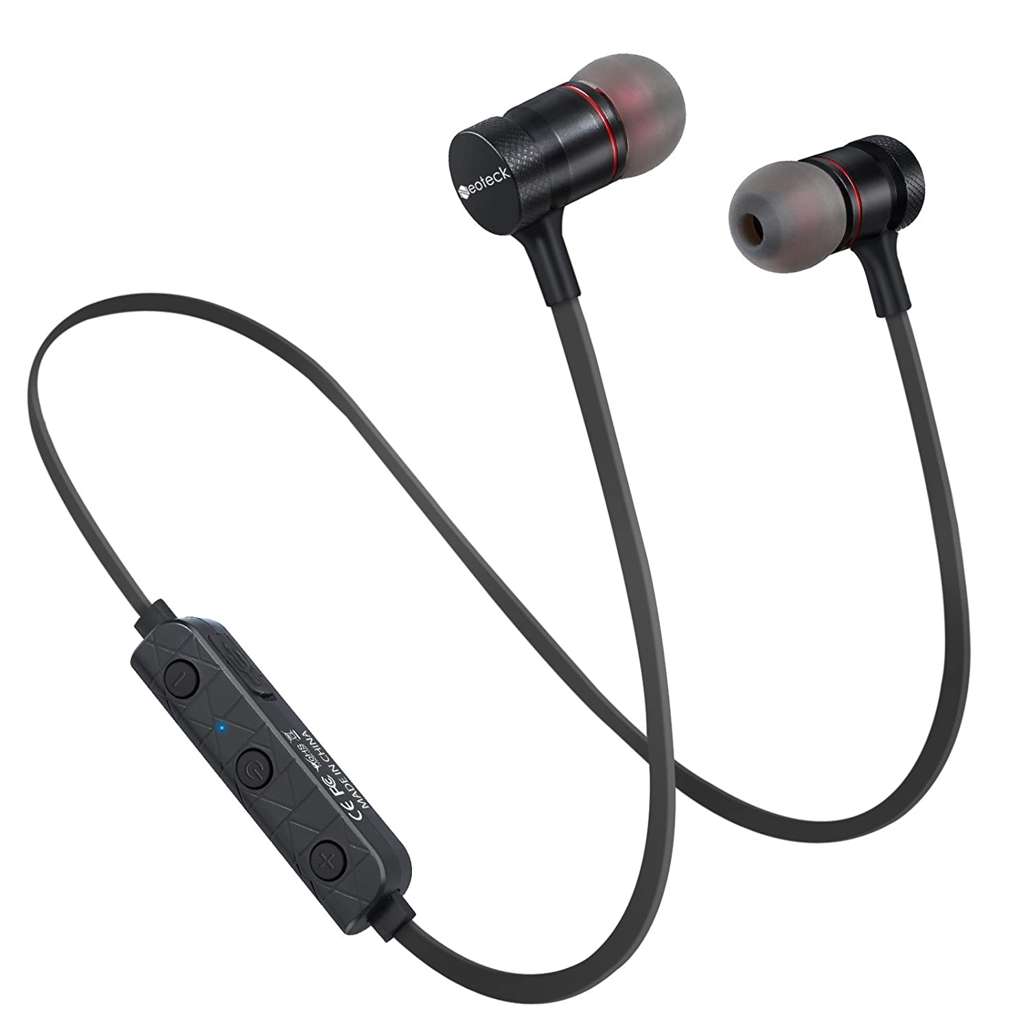1f62710ab57 Neoteck Magnetic Bluetooth4.1 Headphones Sport Wireless Headset Metal  In-Ear Stereo Earbuds Earphone for iPhone 7 7Plus 6S 6 Plus 5S 5 SE Samsung  Galaxy S7 ...