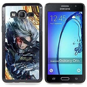 """Qstar Arte & diseño plástico duro Fundas Cover Cubre Hard Case Cover para Samsung Galaxy On5 O5 (Ciber Guerrero"""")"""