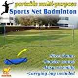 Strong Camel Volleyball Badminton Tennis Net Portable Training Beach with carrying bag STAND (Size L16.8' x W3.3' x H5')