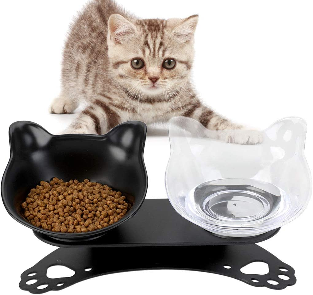 Cuenco para gatos, plataforma inclinada de 15 ° Alimentador para ...