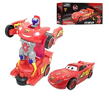 Cars Lightning Mcqueen Transformers Robot Toy Kids Toys Original Free Shipping !