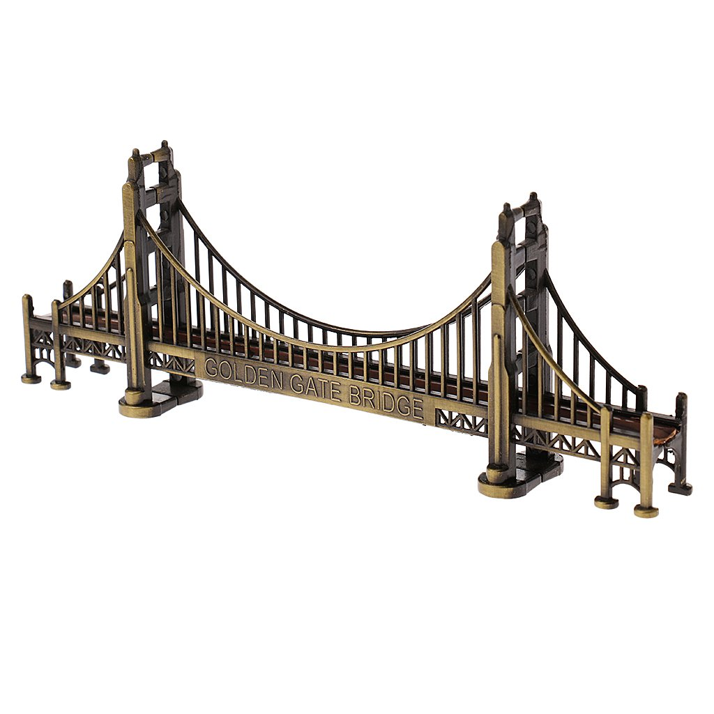 Fenteer Golden Gate Bridge Collectible Souvenir Replica Architecture Model Ornament