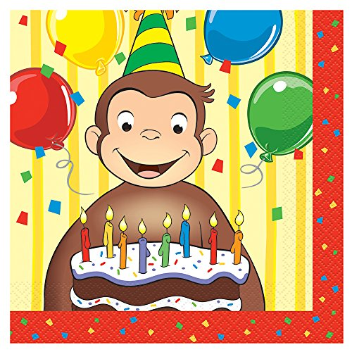[Curious George Party Napkins, 16ct] (Hungry Hippo Costumes)