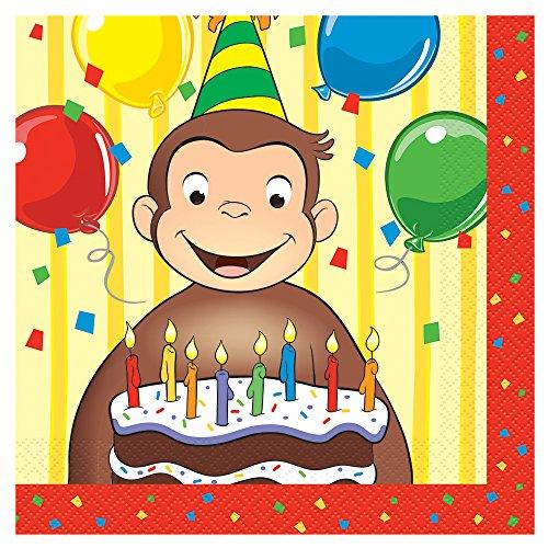 ヴィアライト(VIARITE) おさるのジョージ ケーキデコレーション バースデーキャンドル ろうそく6本付 パーティーグッズ 誕生日 Curious  George Cake Decoration With 6 Birthday Candles Party Supplies Birthday