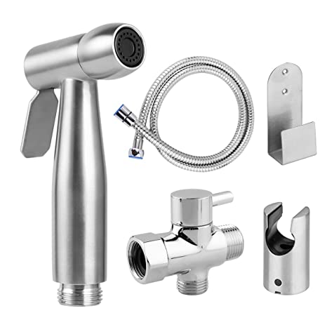 Home Improvement Free Of Punch Shower Portable Bidet Water Sprayer Gun Stainless Steel Toilet Bidet Tap Set Mixer Bidet Head Bidet Faucets High Resilience Shower Heads
