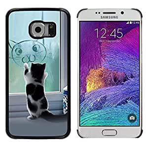 Impact Case Cover with Art Pattern Designs FOR Samsung Galaxy S6 EDGE Cute Funny Cat Kitten Betty shop