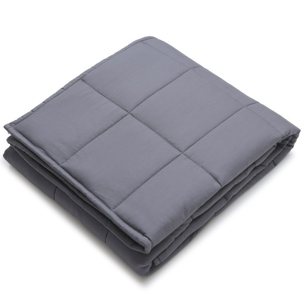 Witlucky Weighted Blanket for Adults, Stress and Anxiety Relief, Improve Sleep Quality, Great for ADHD, Autism, OCD and Sensory Processing Disorder (Grey, 60x80 inch,17 lbs) by Witlucky (Image #2)