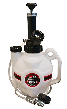 Motamec Sistema de purga de freno y embrague de 2,5 l + adaptador de ángulo de 90 grados.: Amazon.es: Coche y moto
