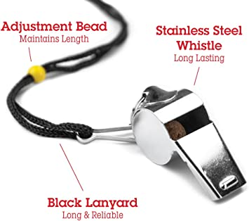 Football Soccer Sports Referee Plastic Whistle Lanyard Emergency Loud Sound KQ