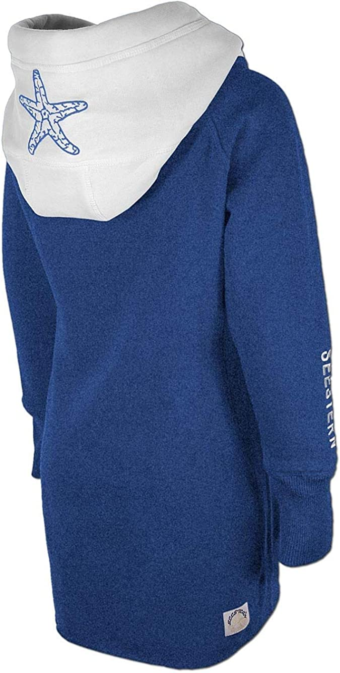 SEESTERN Kinder Langes Kapuzen Sweat Shirt Pullover Hoody Sweater Gr.116-164 //FBA/_1805.bl/_wt
