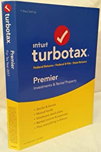 2017* PREMIER * TurboTax FEDERAL RETURNS+FEDERAL E-FILE+STATE RETURN PREMIER CD-ROM PC/MAC