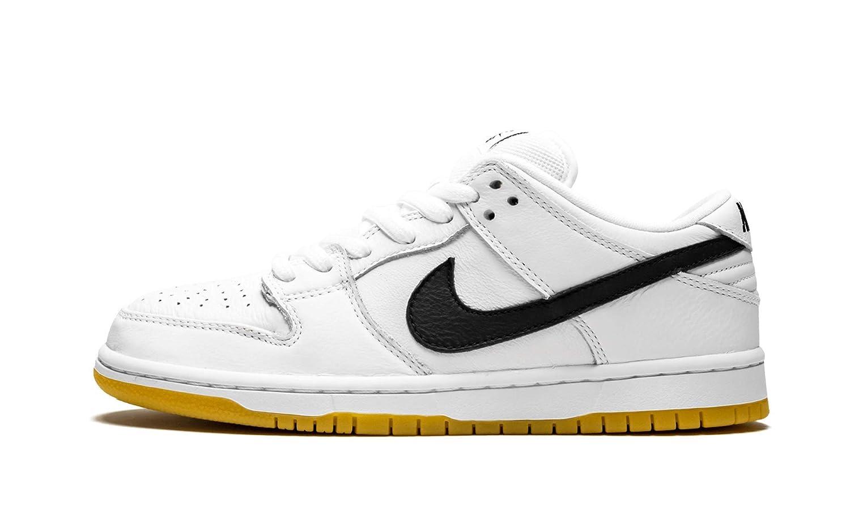 save off 445af eaa89 Amazon.com | Nike SB Dunk Low Pro ISO White/Black-White-Gum ...