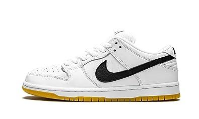 save off 4282c 01f47 Amazon.com | Nike SB Dunk Low Pro ISO White/Black-White-Gum ...
