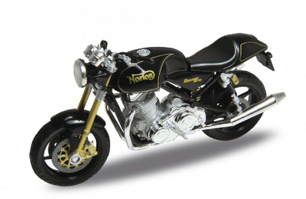 Welly Norton Commando 961 SE Metal Negro Modelo de Moto 1:18 Escala Nuevo y en Caja