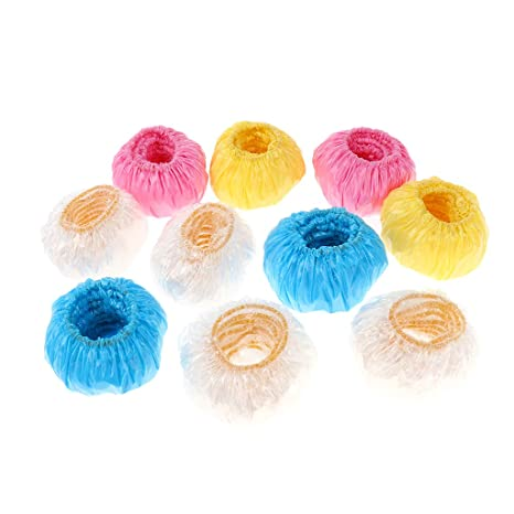 Miss and Mams 100 pcs Waterproof Bath Earmuffs Ear Protectors Hair Perm Tool Protect the Childrens Ear from Water when Showering