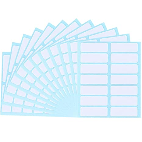 Ficony Rectangle 36 Sheets 1.5 × 0.5inch Bottle Cup Stickers Etiquetas en blanco Carpeta de