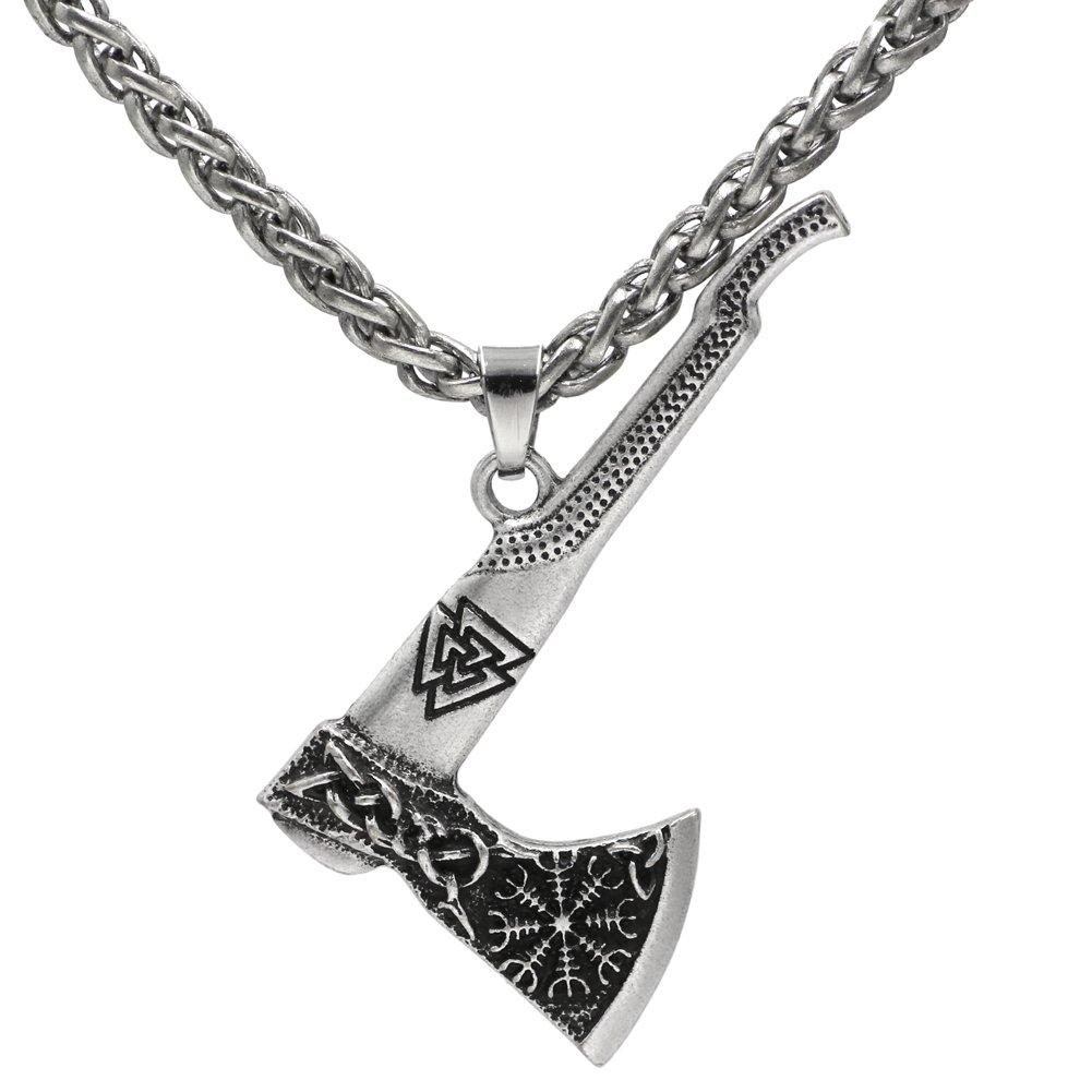 Mjolnir Men Viking Odin Mamen Nordic Viking Trinity Valknut Vegvisir Compass Amulet Pendant Necklace Talisman Jewelry