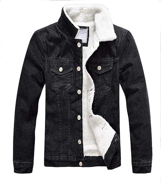 en Blouson Hiver Veste Homme Brinny Jeans Polaire Sherpa Chaud Denim WEIq55