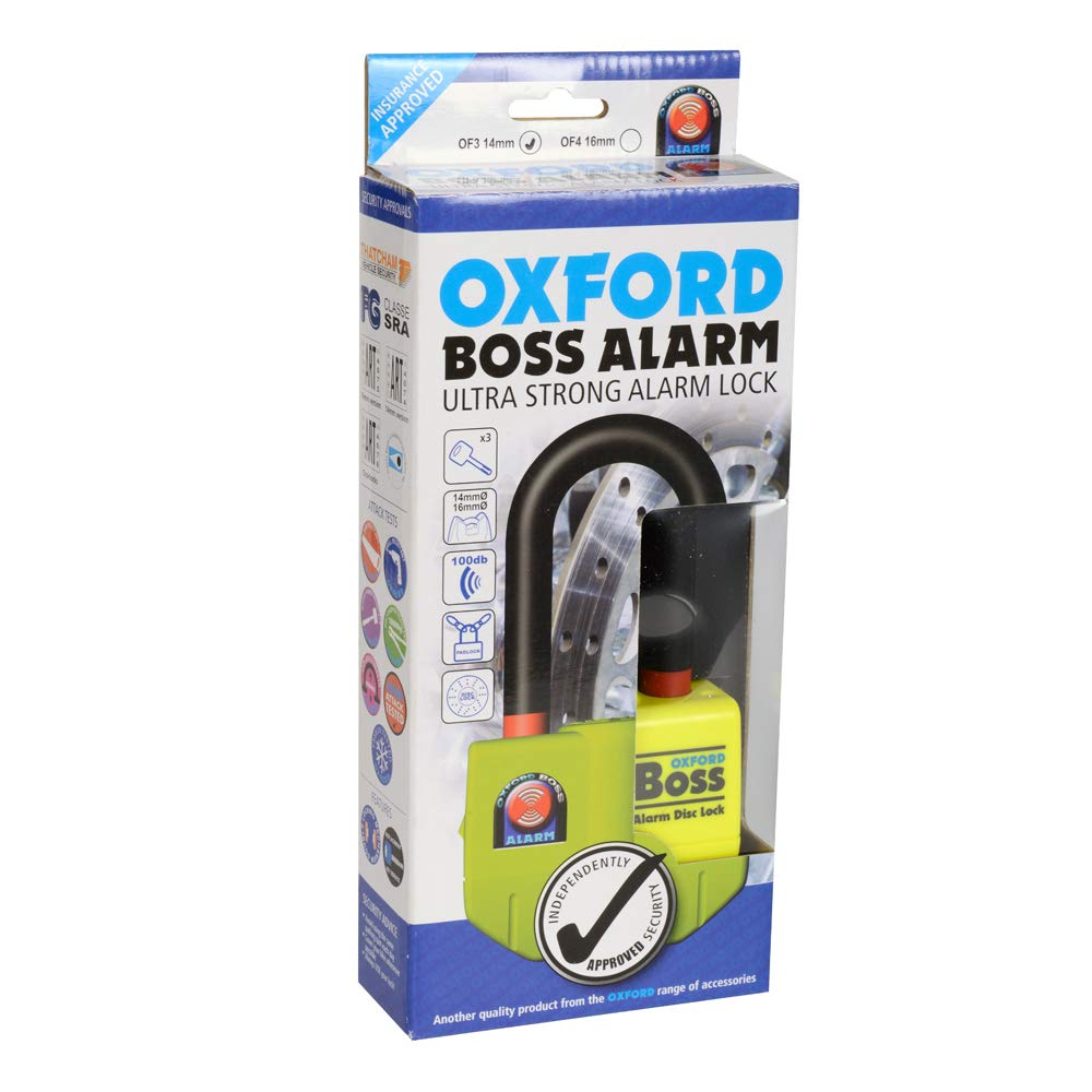 Oxford OF3 Boss Alarm Disc Lock with 100dB Audible Warning by Oxford