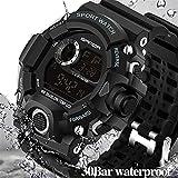 Wdnba Mens Watch Quartz Watch Military Watch Fashion Dive Men's Sport LED Digital Watches