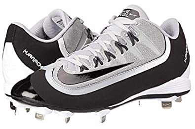 f6a239a41eab Nike Huarache 2KFilth Pro Low Wolf Grey White Black Mens Cleated Shoes Size  8