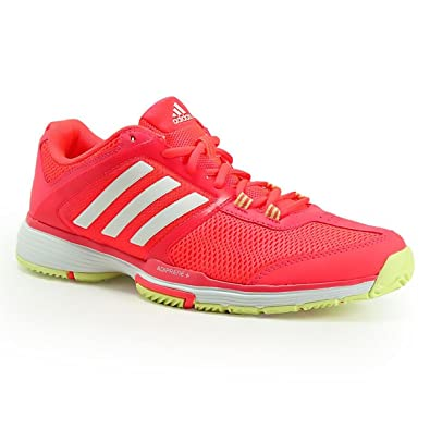adidas Barricade Club w - Chaussures de Tennis pour Femme, Rouge, Taille: 38 2/3