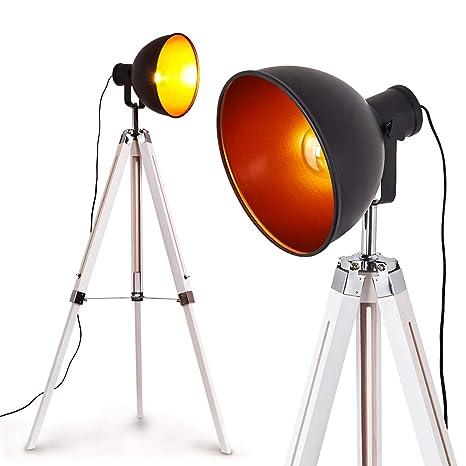 Retro Steh Boden Stand Lampen Büro Wohn Schlaf Zimmer Beleuchtung schwarz//Kupfer