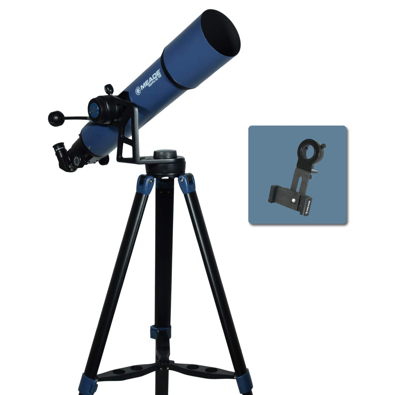 Meade Instruments 234004 Star Pro AZ 102mm Refracting Telescope and Smart Phone Adapter by MEADE