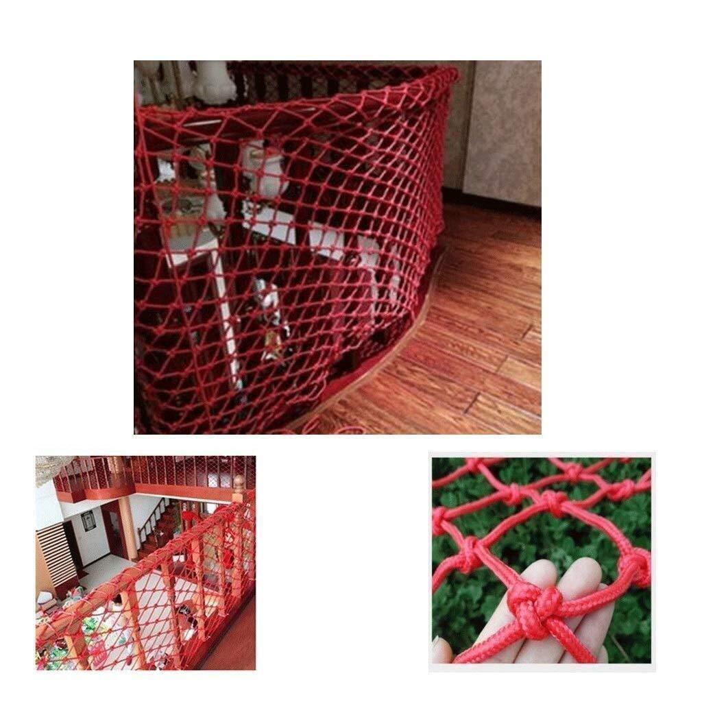 QARYYQ Safety Net, Stair Railing Nylon Safety Net, Balcony Red Anti-Fall Net Child Safety net (Size : 4x5m)