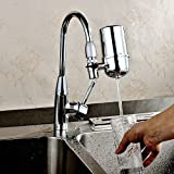 Healthy Faucet Water Filter System - Tap Water Purifier Filter Water Purifying Device for Home Kitchen ,Faucet Mount Filter with Advanced Water Filtration