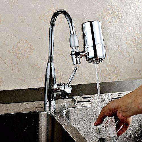 Water Filter Faucet, Filtro de Agua, Tap Water Filter, Faucet Mount Filter with Ceramics Water Filtration by Nanan