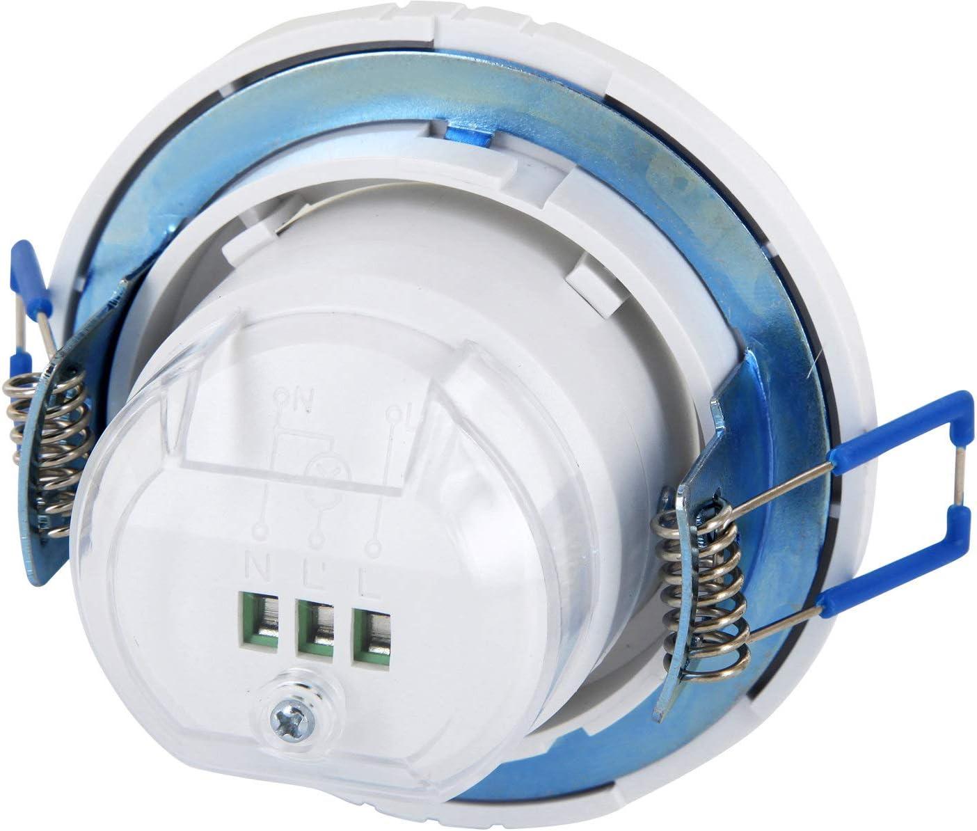 Unterputz HF Radar 360/° Bewegungsmelder schwenkbar LED geeignet 1W-1200W 230V