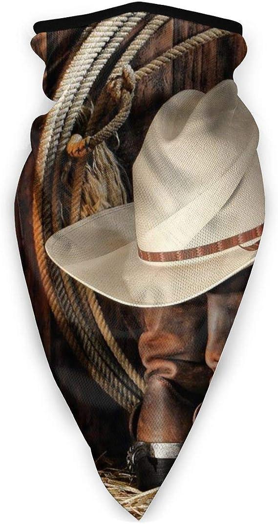 Vaca niño botas y sombrero de cara completa bufanda capucha ...
