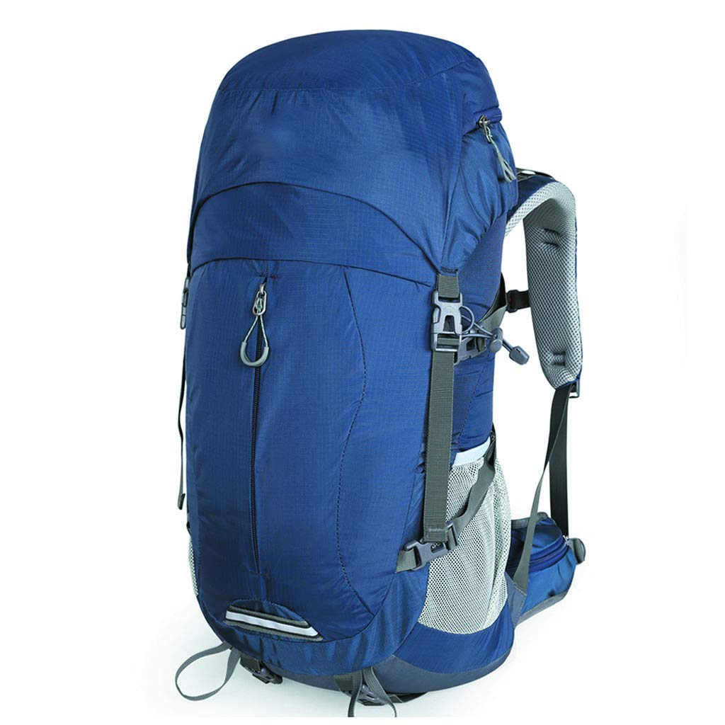 50L登山バッグ男性と女性のアウトドアショルダー大容量のバックパック(青) (色 : A) B07GZP678M A