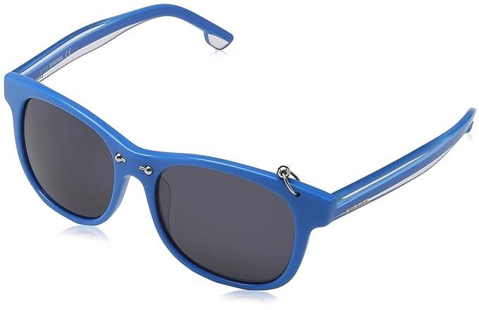 Diesel Damen Sonnenbrille DL9048, Blau (Blau 5387A), Medium