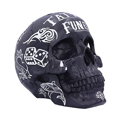 Nemesis Now Ltd Gothic Black and White Tattoo Fund Skull: Toys & Games