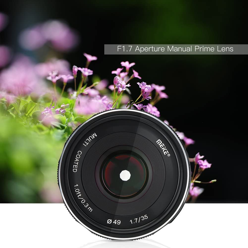 Supports Manual Focus Function Tosuny APS-C 35mm F1.7 Aperture ...