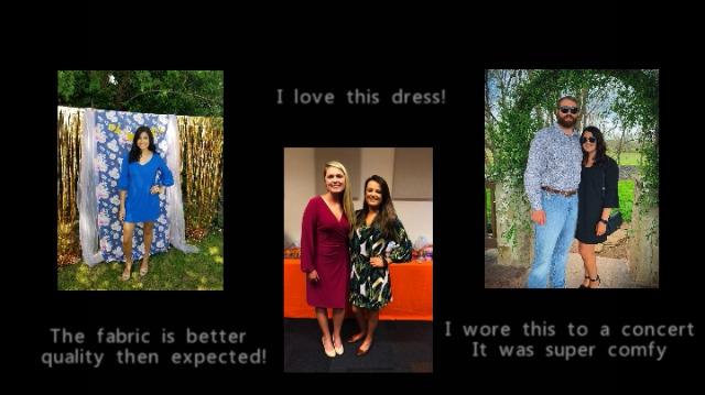 BELONGSCI Women's Dress Sweet & Cute V-Neck Bell Sleeve Shift Dress Mini Dress 7