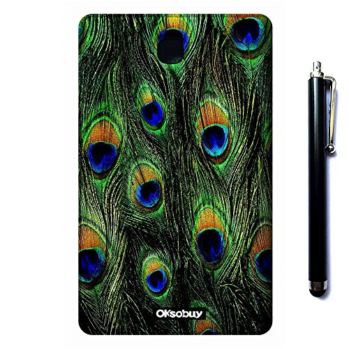 Galaxy Tab 3 7.0 SM-T210 Case, OkSoBuy(R) Stand Case Premium Oracle bone script Leather Case Smart Cover with Card Slots For Samsung Galaxy Tab 3 7.0 SM-T210 SM-T217(Peacock feathers)