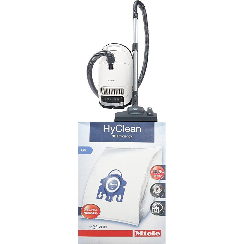 4.5 L, 550 W Miele Complete C3 Excellence EcoLine Staubsauger Inhalt: 4 Staubbeutel 1 Motorschutzfilter blau + 9917730 Staubbeutel HyClean 3D 1 Air Clean Abluftfilter f/ür saubere Raumlauft