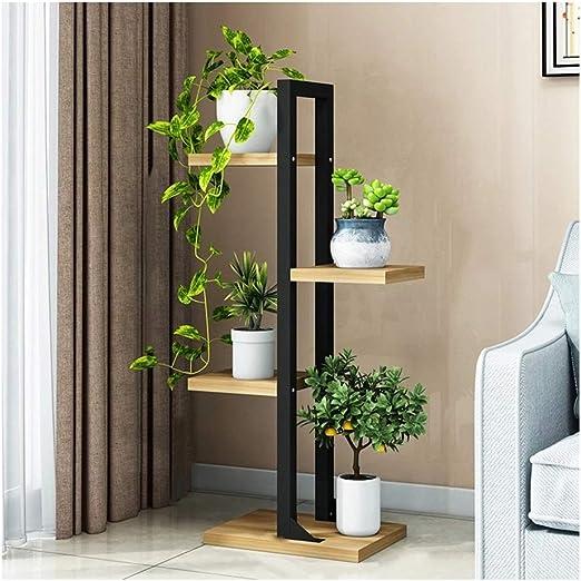 &Macetero Soporte de flores, estantes de exhibición de soporte de plantas de varias capas con jardín Estantería de madera Balcón Decoración Estante de maceta Escalera de exhibición Macetas decorativas: Amazon.es: Hogar