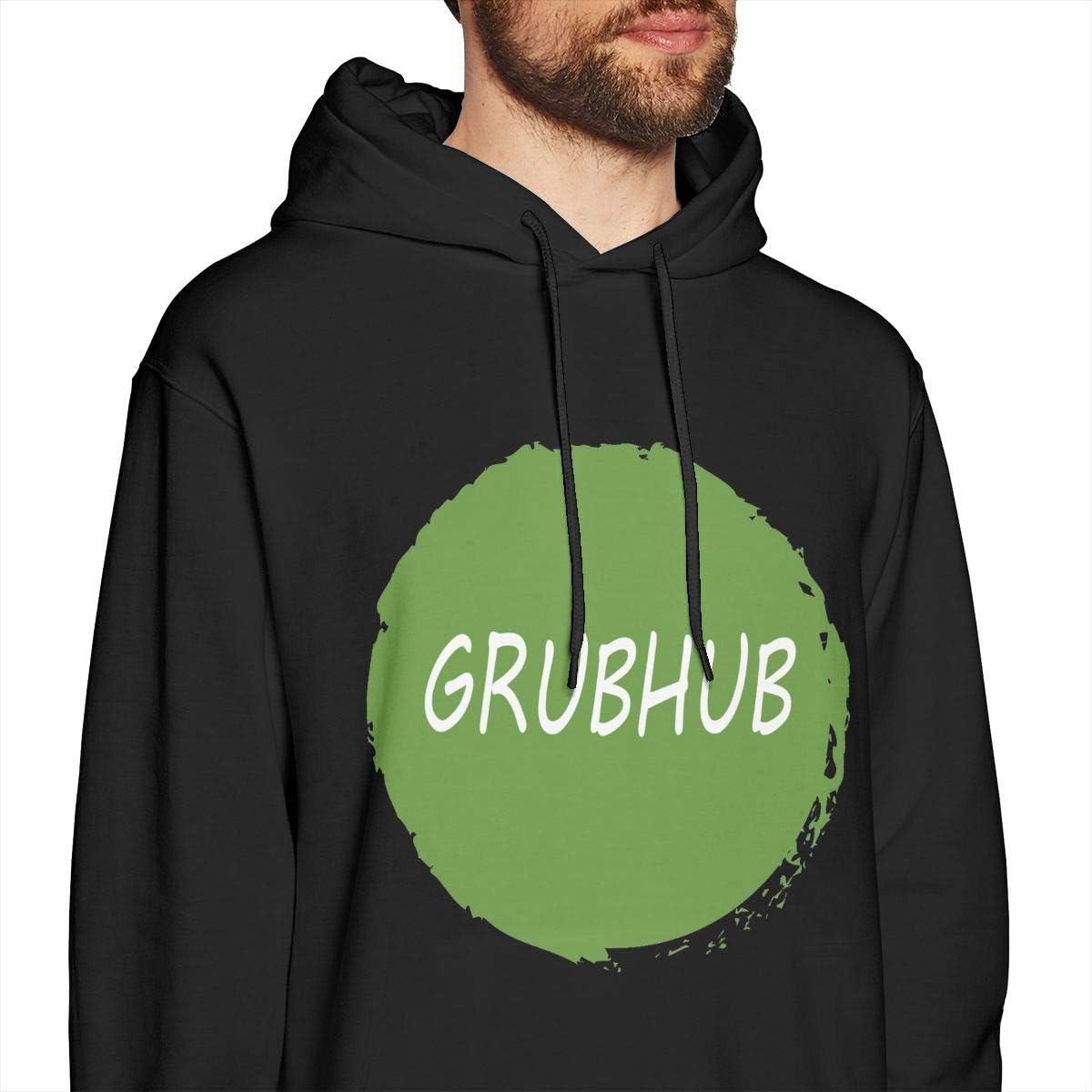 Pekivide Mens Gru-bh-ub Pure Cotton Black Hoodie Sweatshirt Jacket Pullover Tops