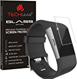 TECHGEAR® Fitbit Surge GLASS Edition Genuine Tempered Glass Screen Protector Guard Cover - for Fitbit Surge Smart Watch Tracker