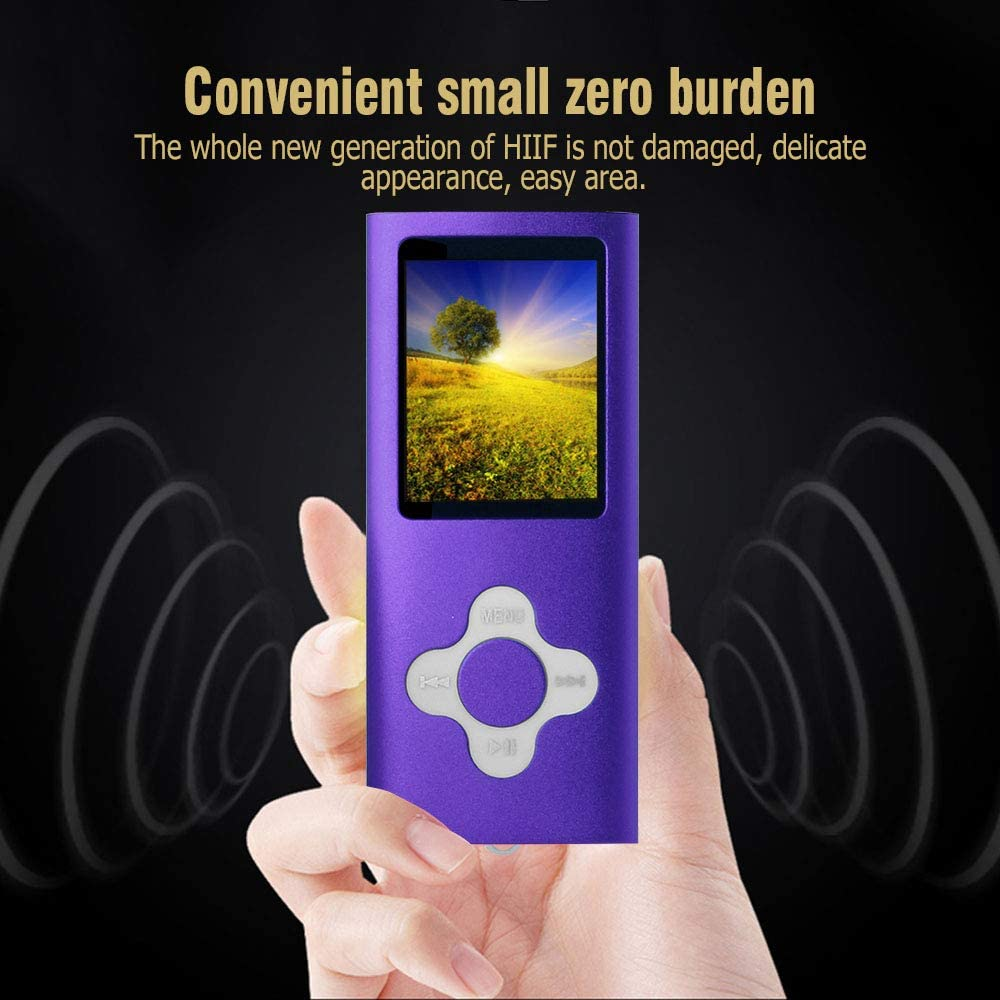 MP4 Player Btopllc MP3 Player Portable and Compact MP3 // MP4 Music Player,Video Player,Ebook,Picture Music Player-Purple Digital Music Player 16GB Internal Memory Card