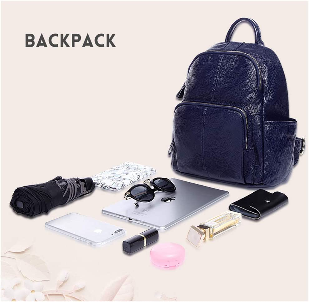 Haoyushangmao Girls Multi-Purpose Backpack for Everyday Travel//Outdoor//Travel//School//Work//Fashion//Leisure Black//Blue//red Cowhide Color : Blue, Size : 27cm33cm13cm Stylish and Casual.