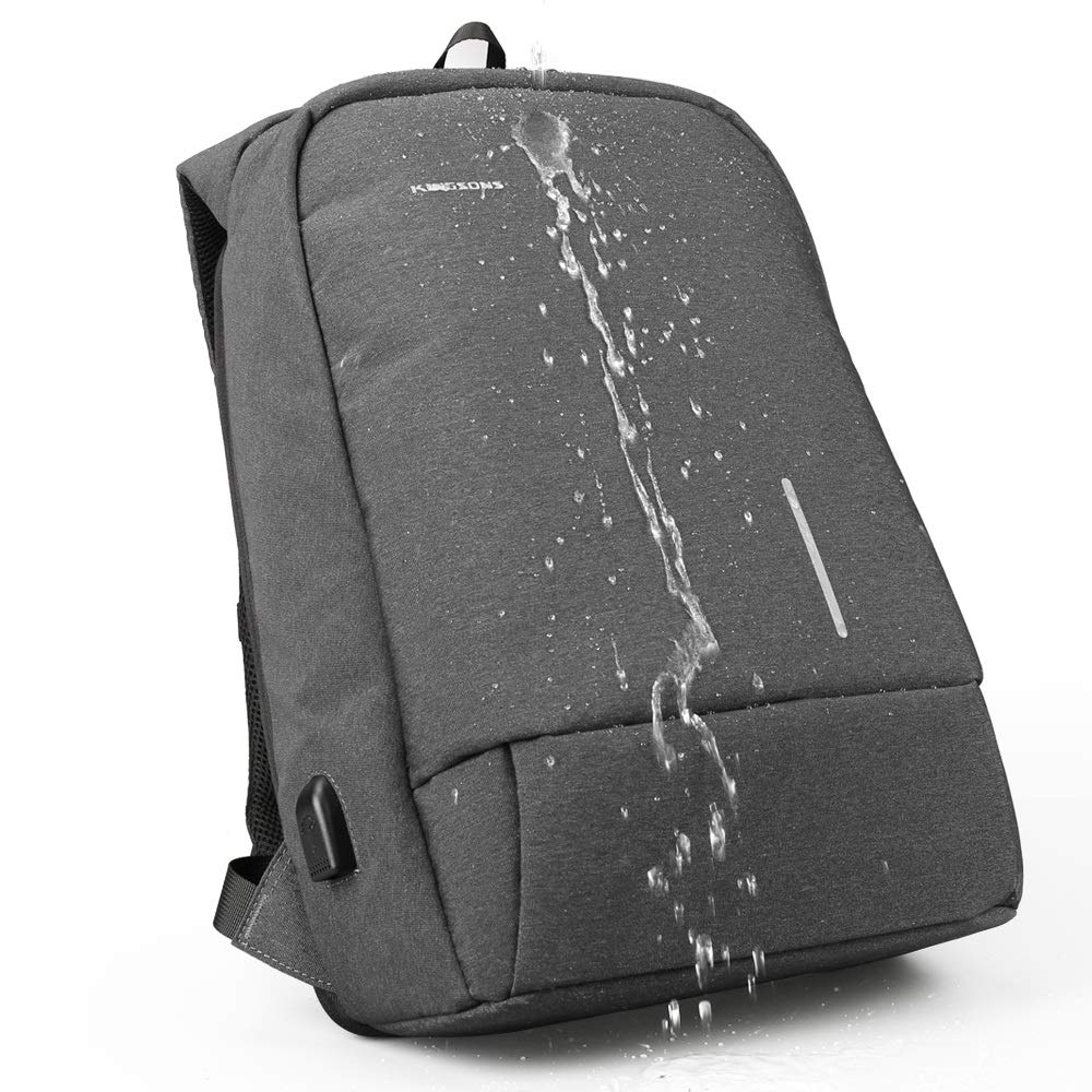 Kunliyin YY1 Mochila para portátil de viaje, resistente antirrobo para empresas Mochila para portátil duradera y resistente viaje, con puerto de carga USB, mochila para ordenador escolar resistente a la lluvia para muj b62658